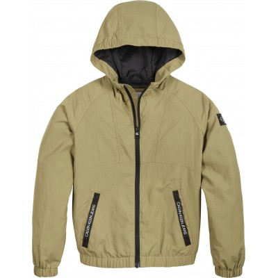 Calvin Klein Boys Windbreaker Jacket - Khaki