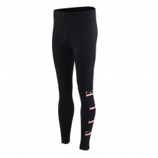 Elle Side Logo Legging - Black/Pink