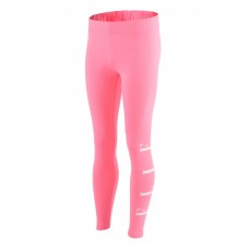 Elle Side Logo Legging - Pink/White