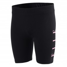 Elle Side Logo Cycling Shorts - Black/Pink