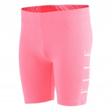 Elle Side Logo Cycling Shorts - Pink/White