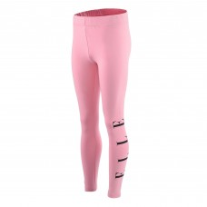 Elle Side Logo Legging - Pale Pink/Black