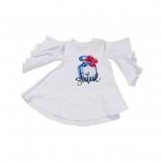 ~Fun & Fun Kids Girls Ruffle Sleeved Top - White