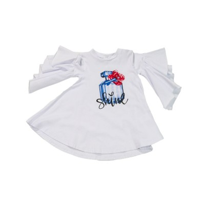 ~Fun & Fun Kids Girls Ruffle Sleeved Top - White
