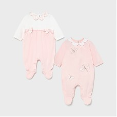 Mayoral Baby Girls 2 Pack Pyjama Set - Pink
