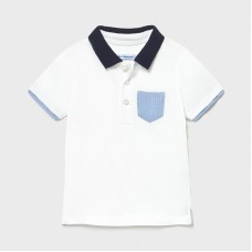 Mayoral Infant Boys S/S Polo - White