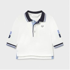 Mayoral Baby Boys Long Sleeve Polo - White