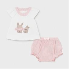 Mayoral Baby Girls Short Set - Pink