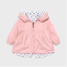 Mayoral Baby Girls Reversible Jacket - Pink/White