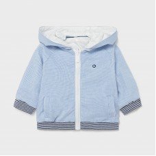 Mayoral Baby Boys Reversible Jacket - Pale Blue/White