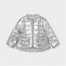 Mayoral Infant Girls Windbreaker Coat - Silver-