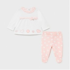 Mayoral Baby Girls 2 Piece Legging Set - Pale Pink