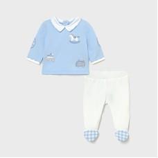 Mayoral Baby Boys 2 Piece Set - Pale Blue