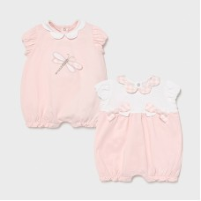 Mayoral Baby Girls 2 Pack Romper Set - Pink