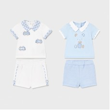Mayoral Baby Boys 4 Piece Short Set - Pale Blue