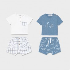 Mayoral Baby Boys 4 Piece Short Set - Blue