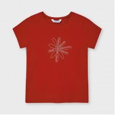 Mayoral Kids Girls Flower T-Shirt - Red