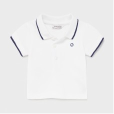 Mayoral Baby Boys Short Sleeve Polo - White
