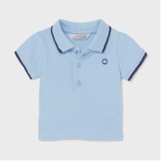 Mayoral Baby Boys Short Sleeve Polo - Pale Blue