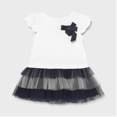 Mayoral Infant Girls Tulle Dress - Navy