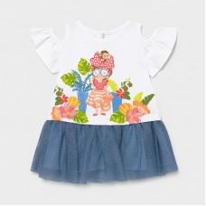 Mayoral Infant Girls Tulle Dress - Sky