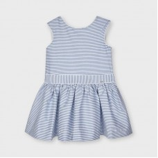 Mayoral Kids Girls Stripe Dress - Blue