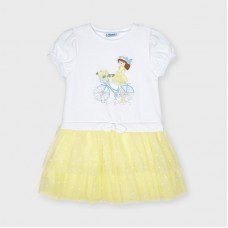 Mayoral Kids Girls Tulle Dress - Yellow