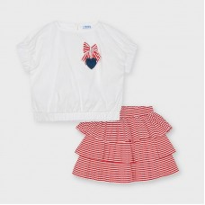 Mayoral Kids Girls Skirt Set - Red