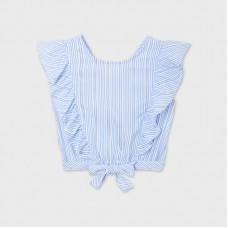Mayoral Junior Girls Sleeveless Blouse - Pale Blue