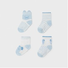 Mayoral Baby Boys 4 Pack Socks - Pale Blue