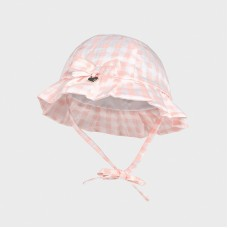 Mayoral Baby Girls Chequered Hat - Pale Pink