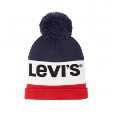 ~Levi Boys Bobble Hat - White/Red/Blue