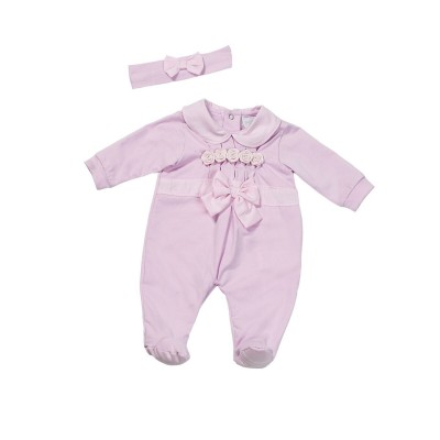 Fun & Fun Infant Girls Babygrow and Headband - Pink