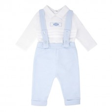 Pastels & Co Boys 3 Piece Suit With Jacket - Pale Blue