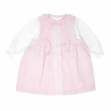 Pastels & Co Girls 2 Piece Dress Set - Pink