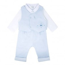 Pastels & Co Boys 3 Piece Suit - Pale Blue