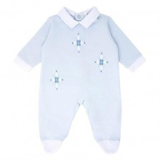 Pastels & Co Boys Sleepsuit - Pale Blue