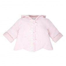 Pastels & Co Girls Bow Jacket - Pink
