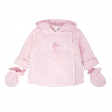 Pastels & Co Girls Jacket With Mittens - Pink