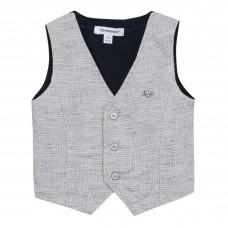 ~3Pommes Infant Boys Waistcoat - Grey