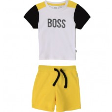 Hugo Boss Infant Boys T-Shirt & Short Set - Yellow