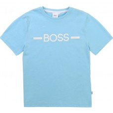 Hugo Boss Boys Short Sleeve T-Shirt - Sea Blue