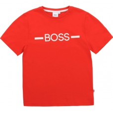 Hugo Boss Boys Short Sleeve T-Shirt - Red