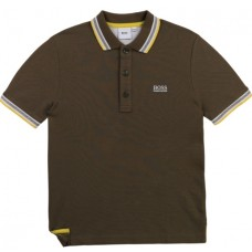 Hugo Boss Boys Short Sleeve Polo - Kaki
