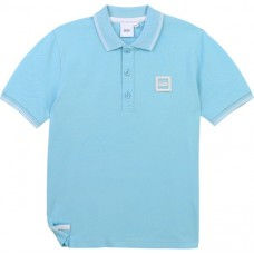 Hugo Boss Boys Short Sleeve Polo - Sea Blue