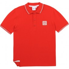 Hugo Boss Boys Short Sleeve Polo - Red