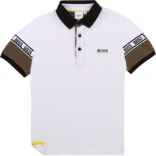 Hugo Boss Boys Short Sleeve Polo - White