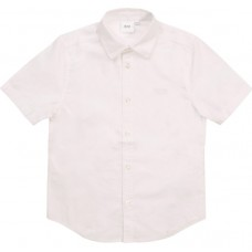 Hugo Boss Boys Short Sleeve Shirt - White