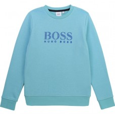 Hugo Boss Boys Crew Neck Sweatshirt - Sea Blue