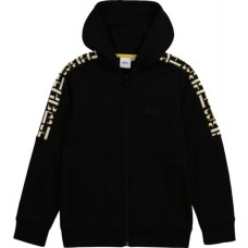 Hugo Boss Boys Zip Track Top - Black